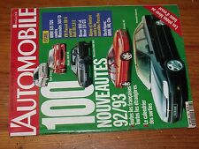 $$$ Revue L'automobile N°548 Pneus hiverBMW 525 TDSMonte-CarloPorsche 968