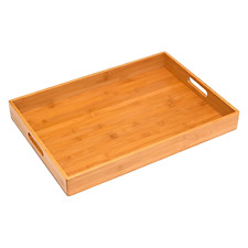Breakfast Serving Tray Bed Food Wood Table Bamboo Wooden Laptop Tv Lap Desk New