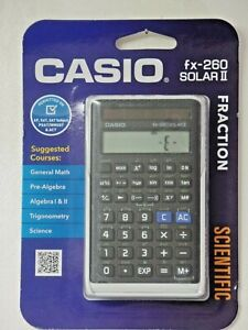 NEW CASIO fx-260 SOLAR II Solar Scientific Calculator