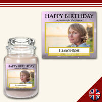 C13 Personalised Medium Custom Photo Candle Label Galaxy Design Perfect Fun Gift
