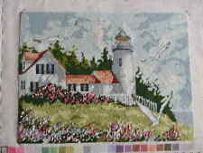 Completed Needle Treasures Needlepoint KEEPER OF THE LIGHT Ocean JCA New 13x16