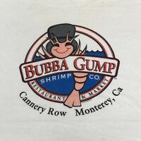 Bubba Gump Shrimp Co T Shirt Adult XL White California Vintage 90s Forrest Gump