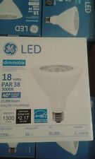 GE LED PAR38 18W 3000K  40*Floodlight  1300 LUMENS 25,000 hours DIMMABLE -NO TAX
