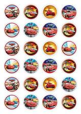 24 Disney Cars Cupcake Fairy Cake Toppers Edible Rice Wafer Paper Decorations