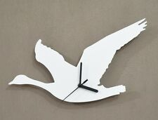 Duck Flying Silhouette - Wall Clock