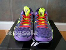 Nike Zoom KOBE VII 7 SUPREME CHEETAH CHRISTMAS VOLT PURPLE RED 488244-500 10.5