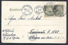 Deutsch Südwest Afrika covers 1905 PPC Keetmanshoop to Cincinnati