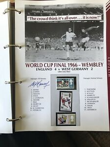 1966 ENGLAND WORLD CUP WINNERS SHEET SIGNED BY THE MANAGER SIR ALF RAMSEY
