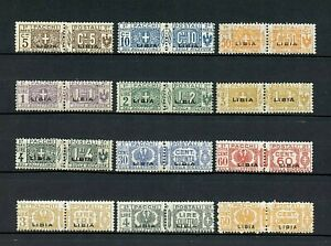 Libya #Q1//Q22 & #Q17a (LI185) O/P 8 3/4 x 2 mm, Parcel Post, M,H, CV$193.00