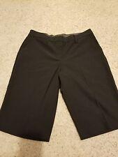 NY Collection size 12 black city short walking shorts career wear