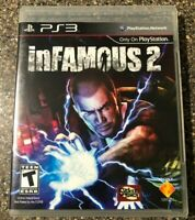inFamous 2 (Sony PlayStation 3 PS3) Complete w/ Manual - Tested Working