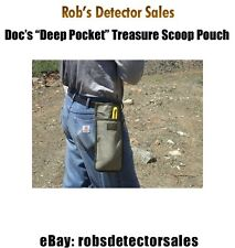 """Doc's """"Deep Pocket"""" Treasure SCOOP pouch - Metal Detecting Pouch - FREE SHIPPING"""