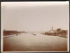 PHOTO A LOCALISER VILLE BORD DE FLEUVE VERS 1900