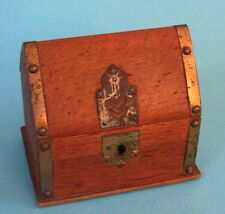 ANCIENNE TIRELIRE Façon MAISON CHAUMIERE EN BOIS france VINTAGE FRENCH MONEY BOX