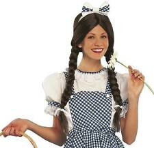 Country Girl Dorothy Brown Pigtails Adult Costume Wig