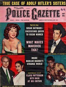 1959 Police Gazette July - Hitler's Sisters; James Garner; Marlon Brando;Hayward