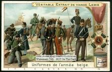 Belgian Army Uniforms And Medals 1898 Trade Ad Card