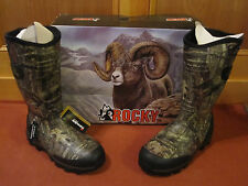 NEW Men ROCKY MUDSOX Insulated MossyOak Infinity Camo Scent IQ Rubber Boots 4786