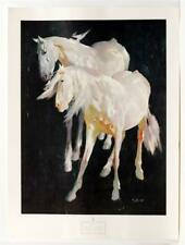 1967 RICHARD ARENYS Horses Post Impressionist LITHO NY Graphic Society #382T