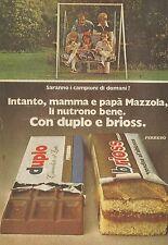 X4950 Duplo e Brioss Ferrero - Famiglia Mazzola - Pubblicità 1974 - Advertising