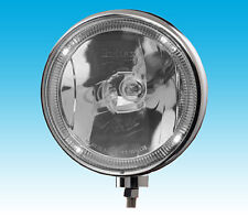 """Pair of Britax 8"""" driving spot lamps/lights clear lens LED """"Angel Eyes"""" 12/24V"""