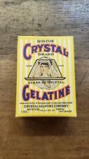 Antique Vintage NOS Crystal Gelatine Box