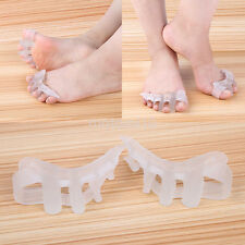 2X Silicon Gel Toe Spacer Corrector Separator Spreaders Alignment Foot Care Tool