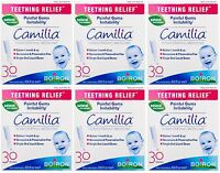 6 Pack Boiron Camilia Teething Relief, 30 Count Ea (0.034 fl oz each)