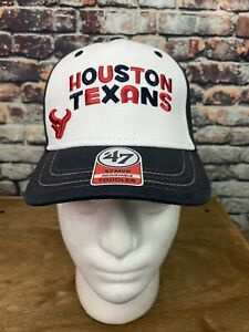 Houston Texans 47 MVP Adjustable White Kids Youth Hat Cap Spell out