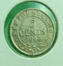 1945 Newfoundland 5 cents  very nice grade