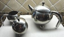 CLASSIC STYLE STAINLESS STEEL TEA COFFE POT SUGAR MILK POT SET