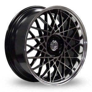 1 x Lenso Eagle 2 Alloy Wheel Black Machined / Polished 17x8.5 ET30 4x100 73.1mm