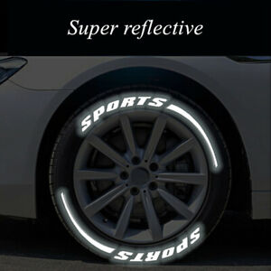 Car Tire Letter Stickers 3D SPORTS Blade Stickers Waterproof Night Reflective