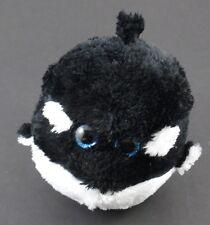 TY Beanie Ballz SPLASH Orca Shamu Whale 5in Round Ball Shaped Plush