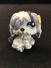 Littlest Pet Shop Dog Sheepdog Komondor Purple White w Blue Eyes #466
