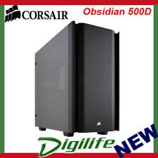 Corsair ATX Obsidian 500D Tempered Glass Case Black (No PSU) CC-9011116-WW
