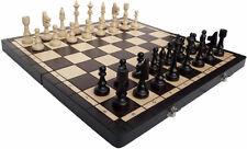 Schach, Sehr schönes Schachspiel Club 48 x 48 cm KH 100 mm Holz