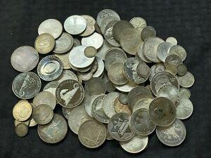 Massive Bulk Lot of 100 Older World Silver Coins Lot#A257 1124 Grams