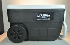 Jack Daniels old time quality country cocktails coleman Cooler w/ handle, wheels