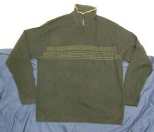 CEZANI Men's Large V-Neck Sweater Black w/print Acrylic/nylon/wool