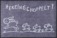 Salonloewe Fußmatte Hereingehoppelt 50 x 75 cm waschbare Schmutzmatte