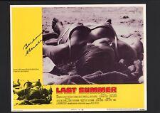Barbara Hershey - Signed Autograph Lobby Card - The Last Summer