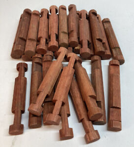 """Lincoln Logs 28 Piece of Wooden 4-1/2"""" 2 Notch Round"""