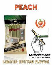 10 x King Palm Mini Size Leaf Rolls Wraps | Peach Flavor | with Freebies