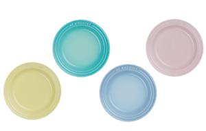 Le Creuset Round Plate LC15cm (4 pieces) Sorbet Special Price Stoneware