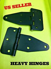 LOT OF 100 Black Flat Leaf Hinge Black For Heavy Doors Truck Cabinet 180 599.6.2