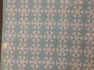 white snowflakes Stickers transfers glass tile vinyl self adhesive 013