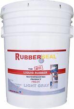Rubberseal Liquid Rubber Waterproofing Roll On Light Gray 5 Gallon - New