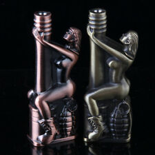1 Pcs Sexy Windproof Lighters Metal Jet Torch Gas Butane Refillable Encendedores