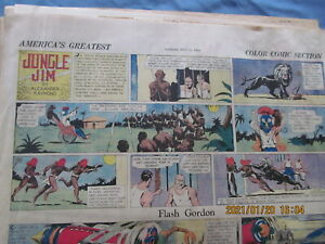 HERALD & EXAMINER COMIC SECTION SUNDAY 1934 FLASH GORDON TWO pages only